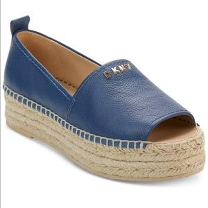 DKNY Blue Espadrilles open toe sandals